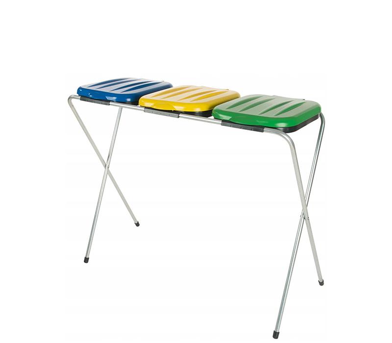 Aga Stojan na odpadkové pytle 3x120 l Žlutý, Modrý, Zelený