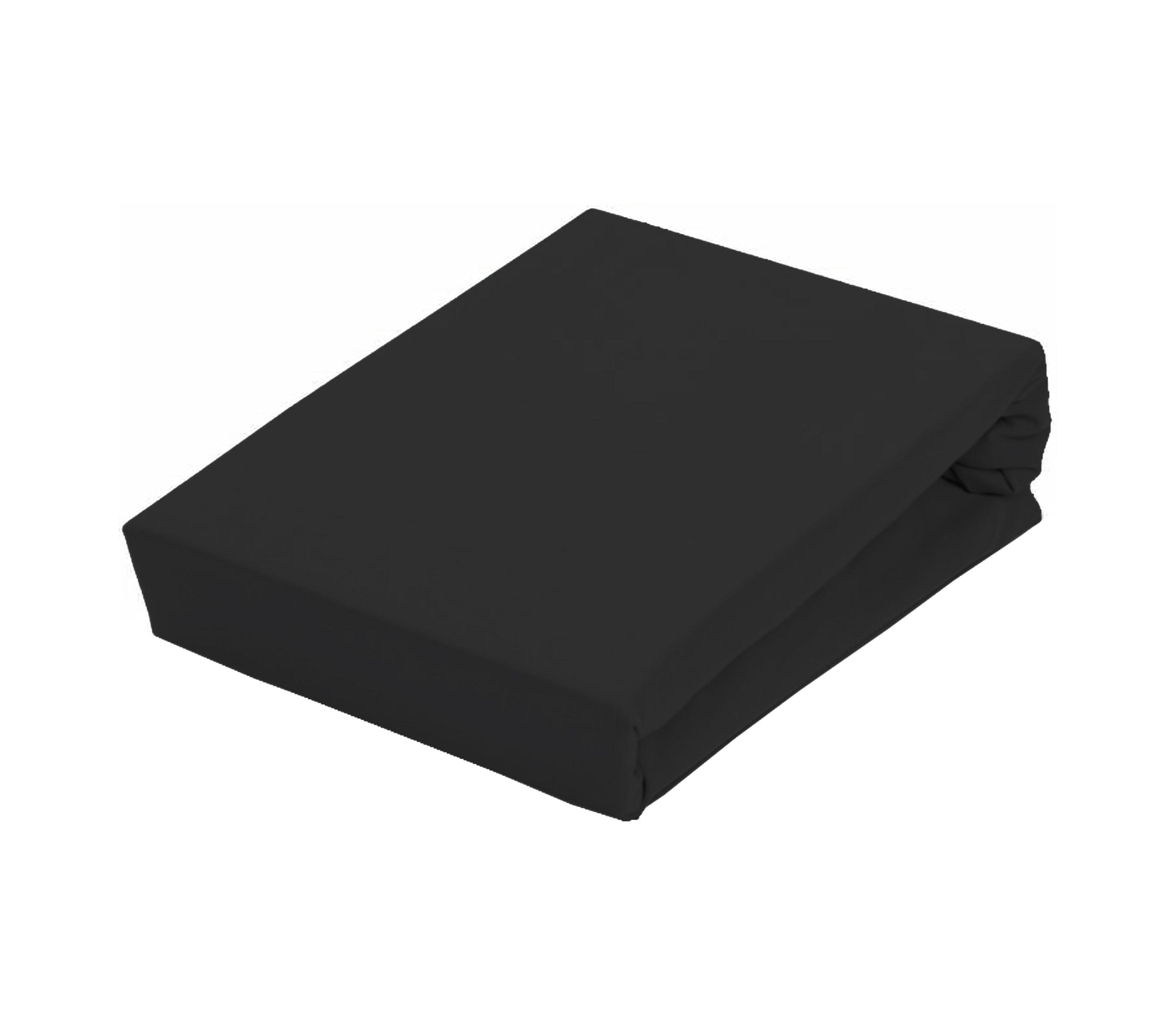 Aga Prostěradlo JERSEY 90x200 cm  Barva prostěradla: Černá