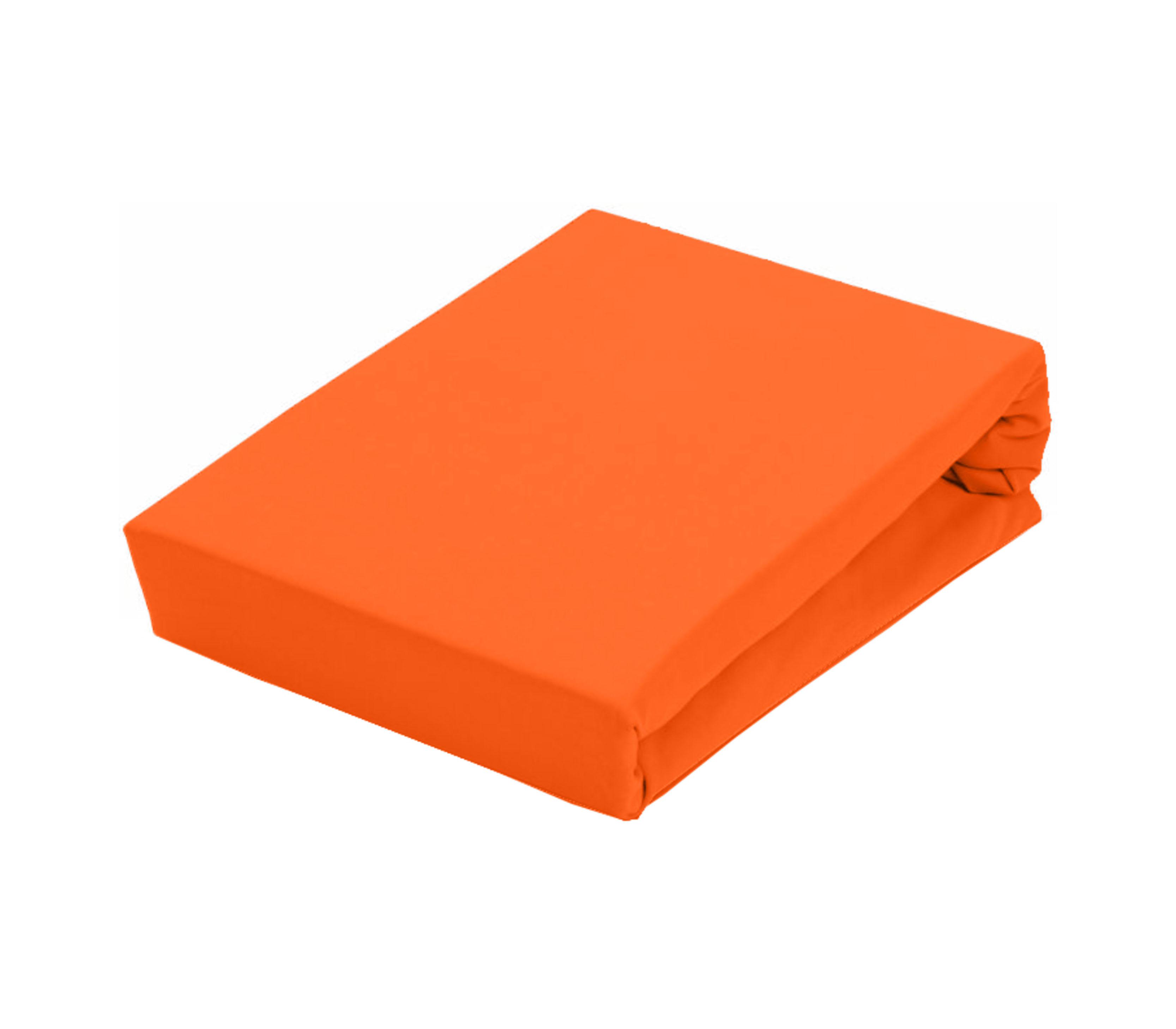 Aga Prostěradlo JERSEY 160x200 cm  Barva prostěradla: Oranžová