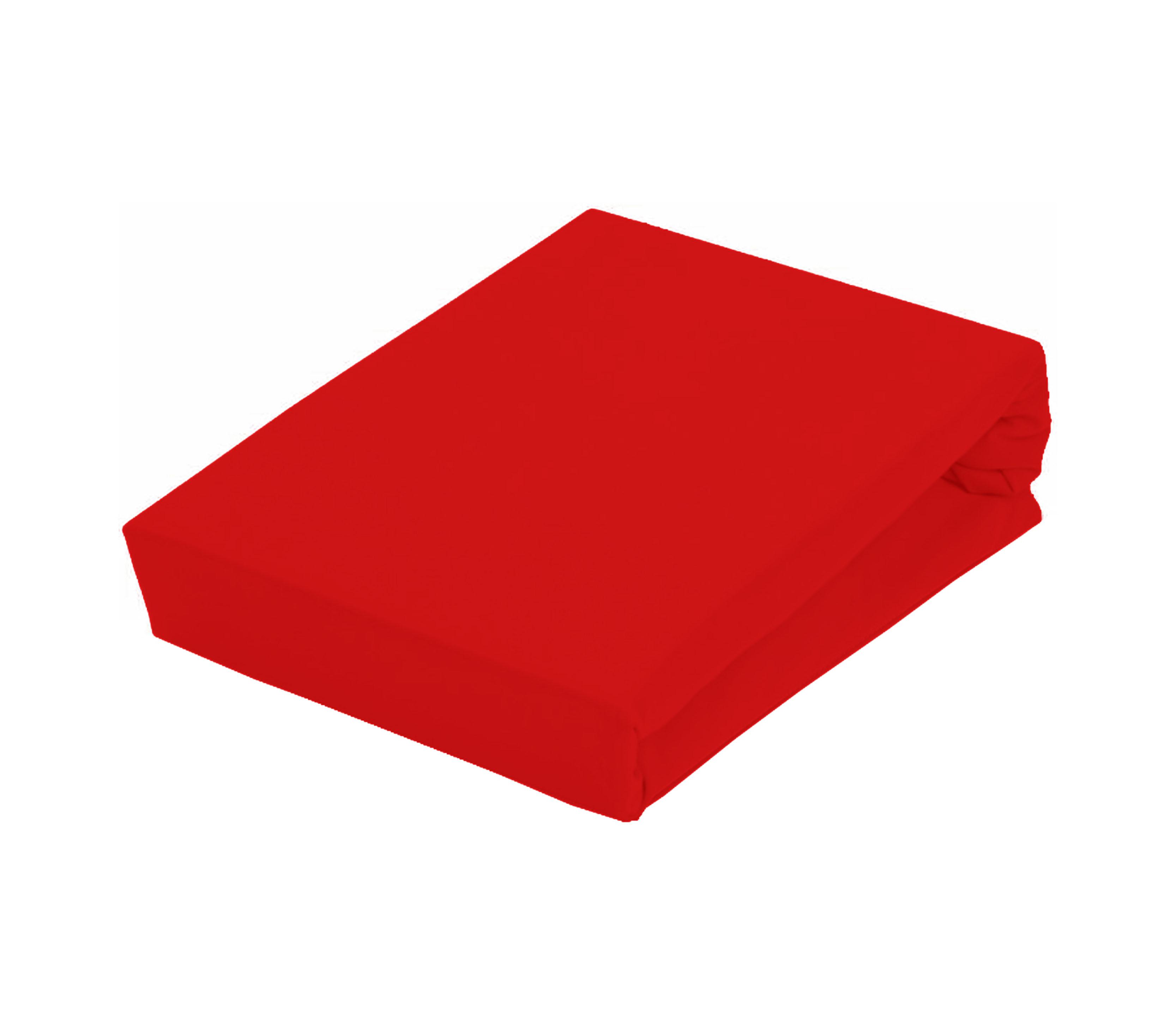 Aga Prostěradlo JERSEY 160x200 cm  Barva prostěradla: Červená