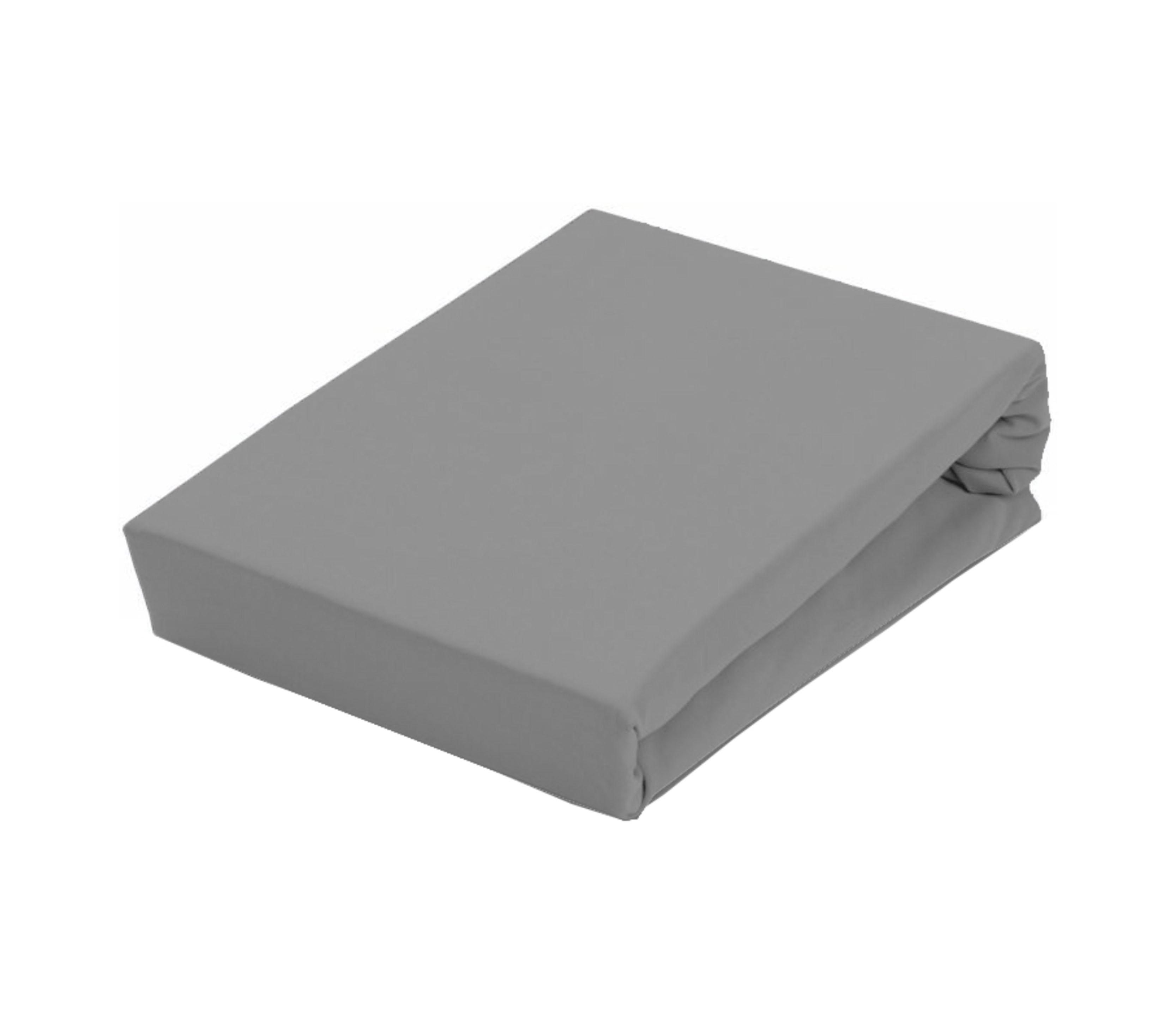 Aga Prostěradlo JERSEY 180x200 cm  Barva prostěradla: Tmavě šedá