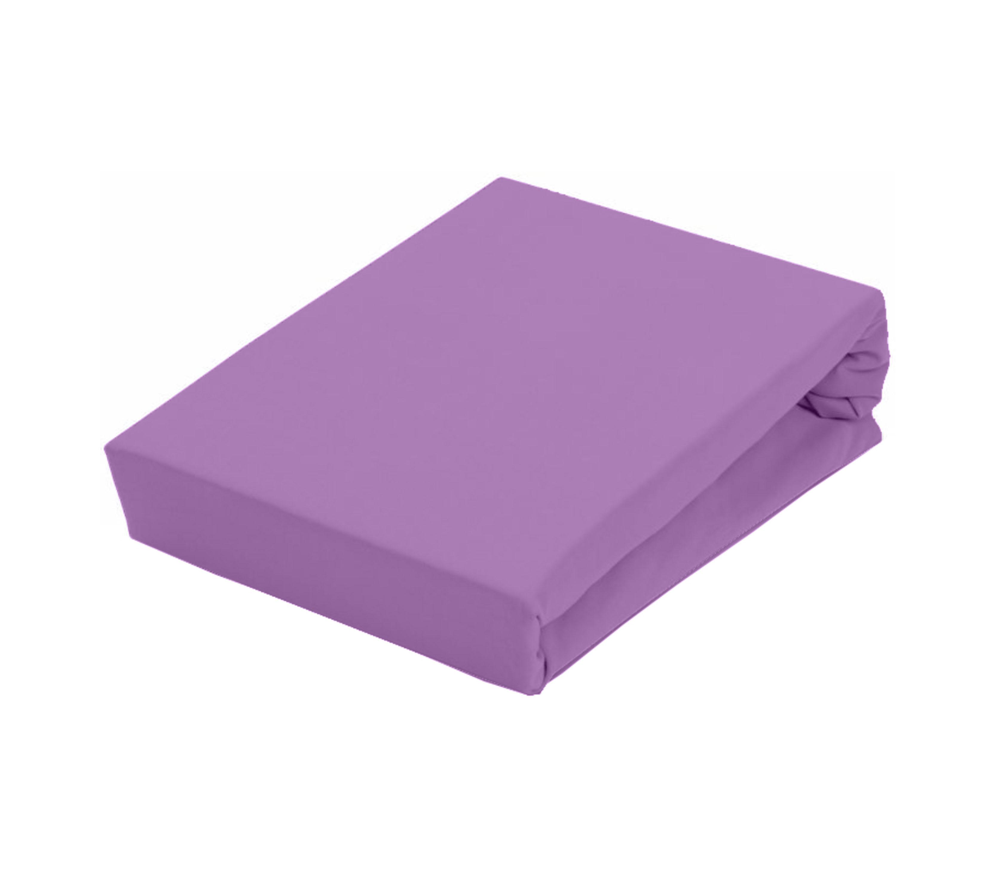 Aga Prostěradlo JERSEY 180x200 cm  Barva prostěradla: Světle fialová