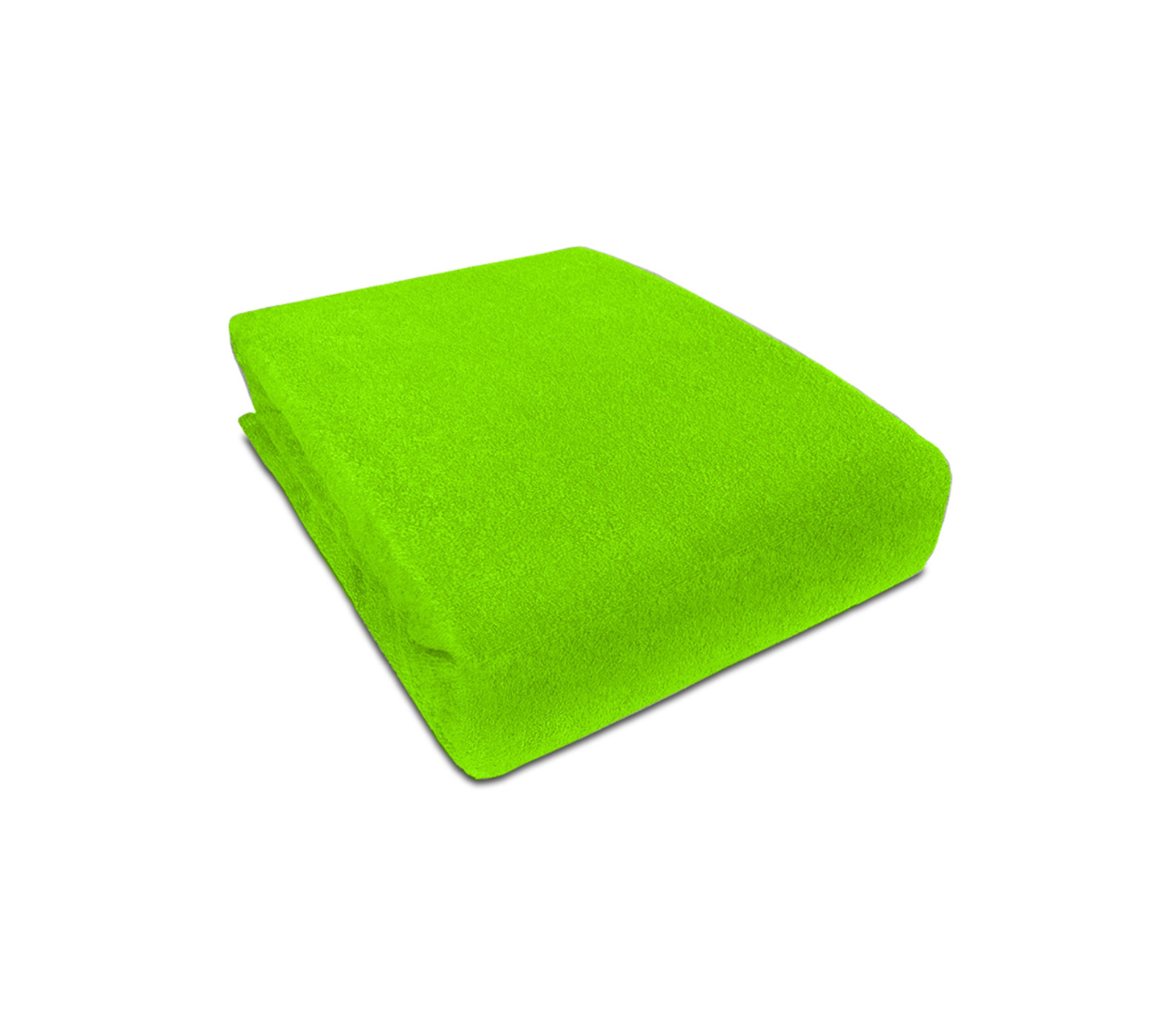 Aga prostěradlo FROTÉ 160X200 cm Barva prostěradla: Světle zelená