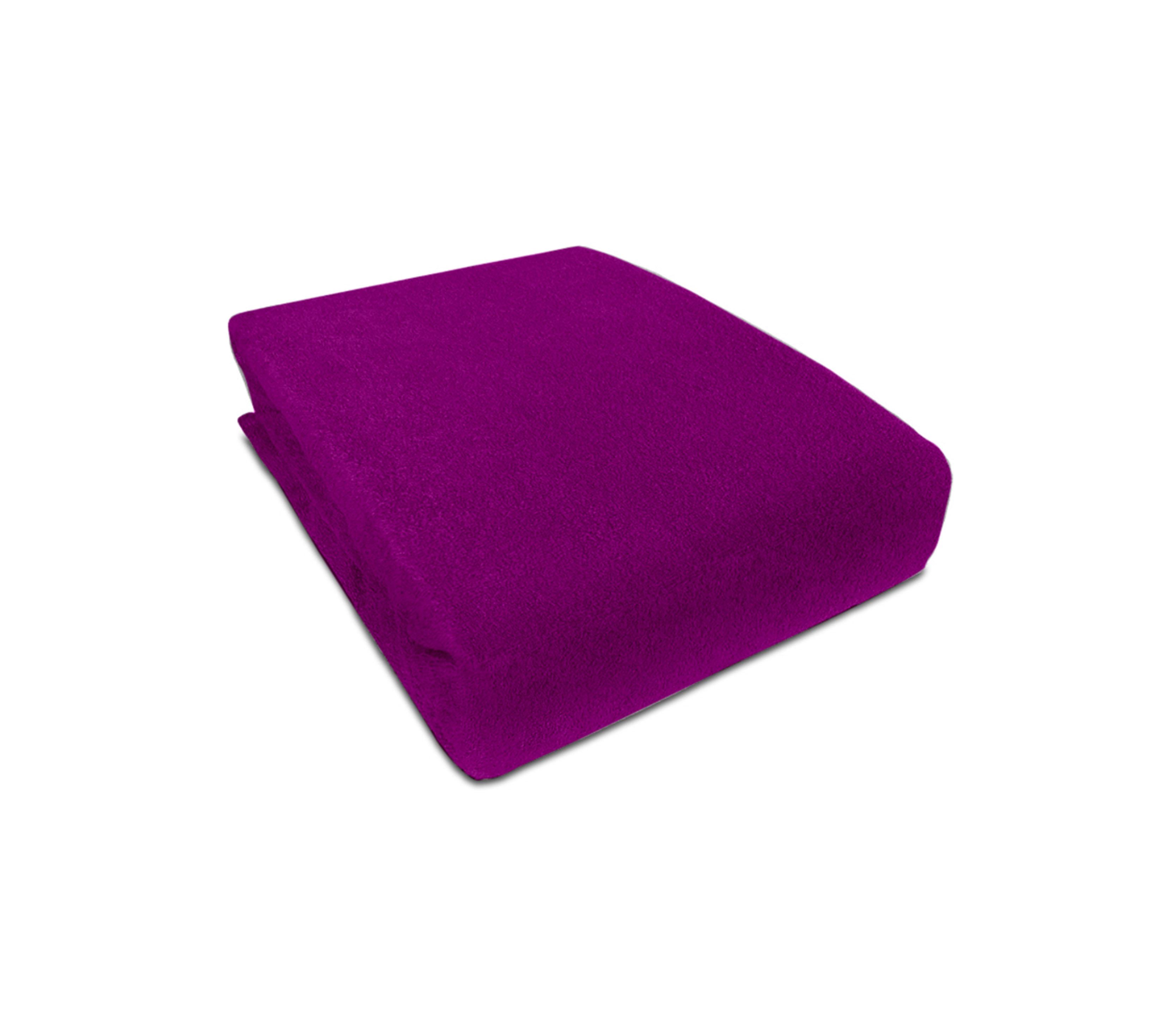 Aga prostěradlo FROTÉ 160X200 cm Barva prostěradla: Tmavě fialová