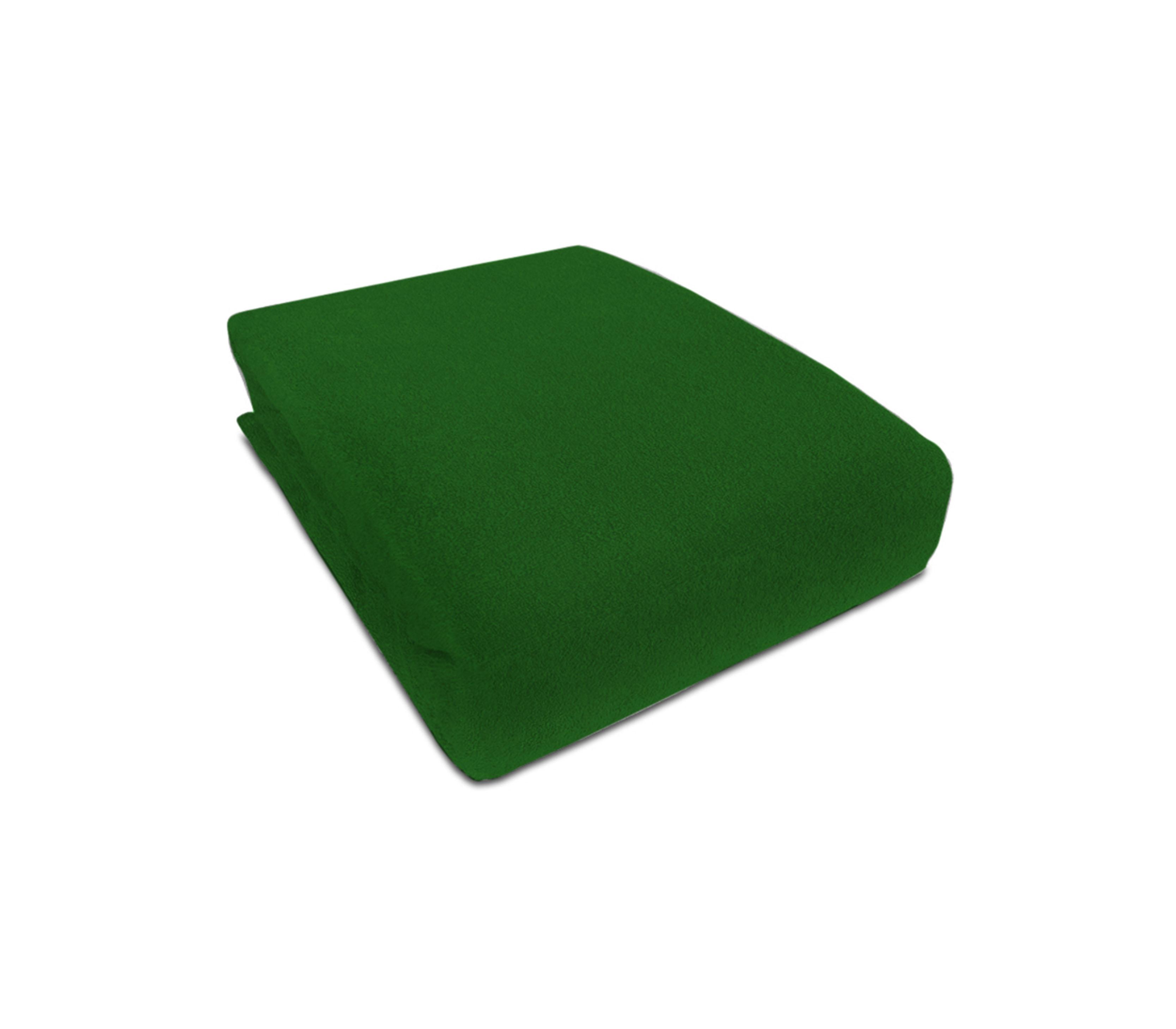 Aga prostěradlo FROTÉ 160X200 cm Barva prostěradla: Tmavě zelená