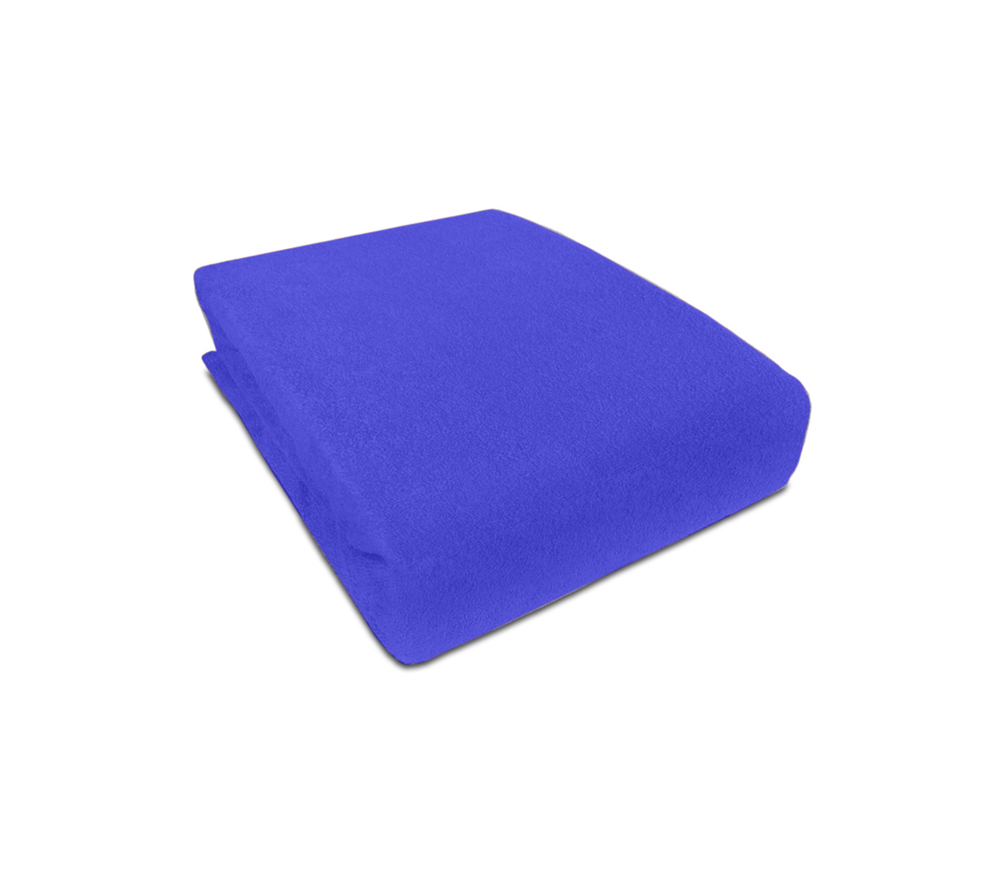 Aga prostěradlo FROTÉ 180X200 cm Barva prostěradla: Modrá