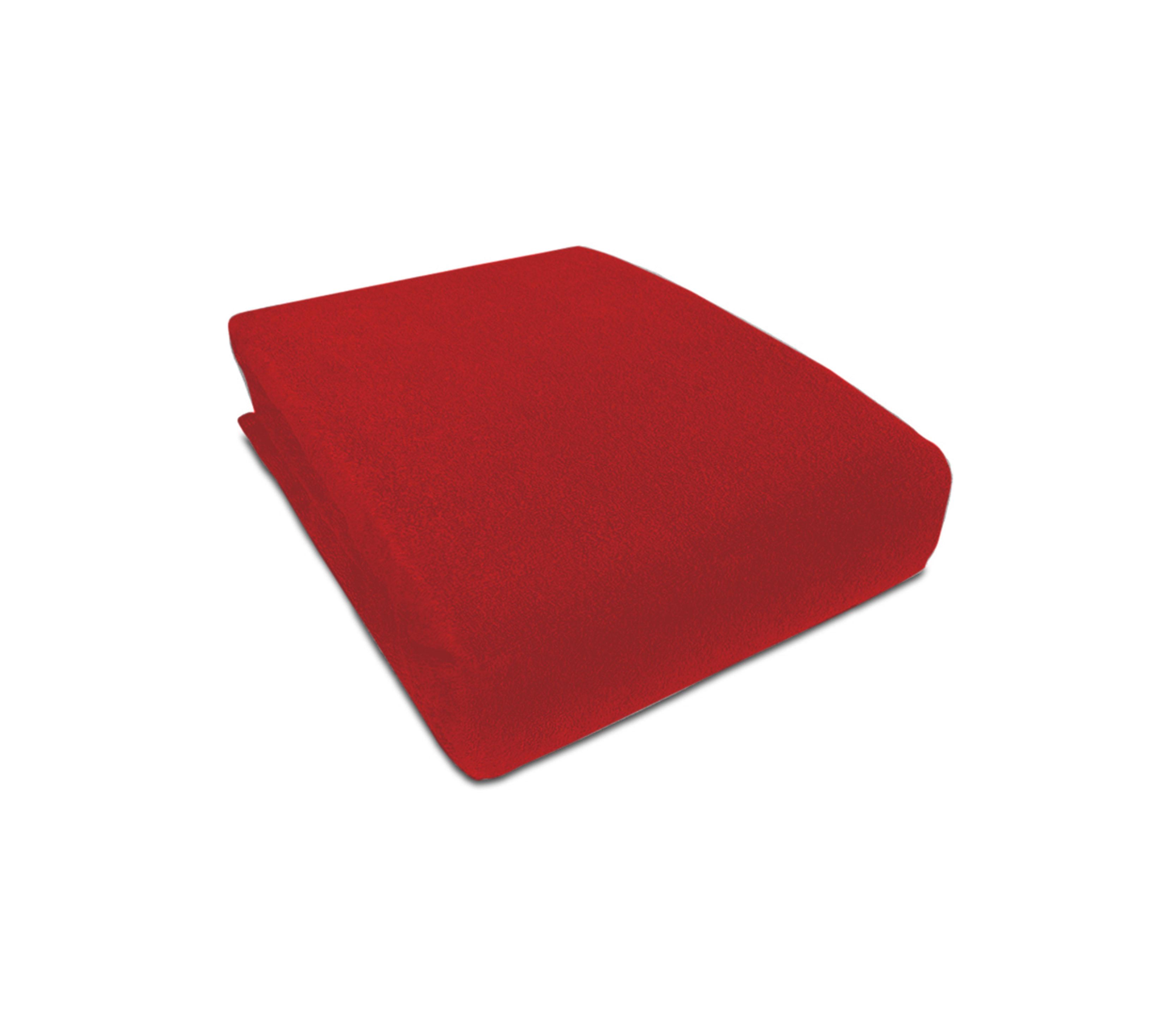 Aga prostěradlo FROTÉ 180X200 cm Barva prostěradla: Červená