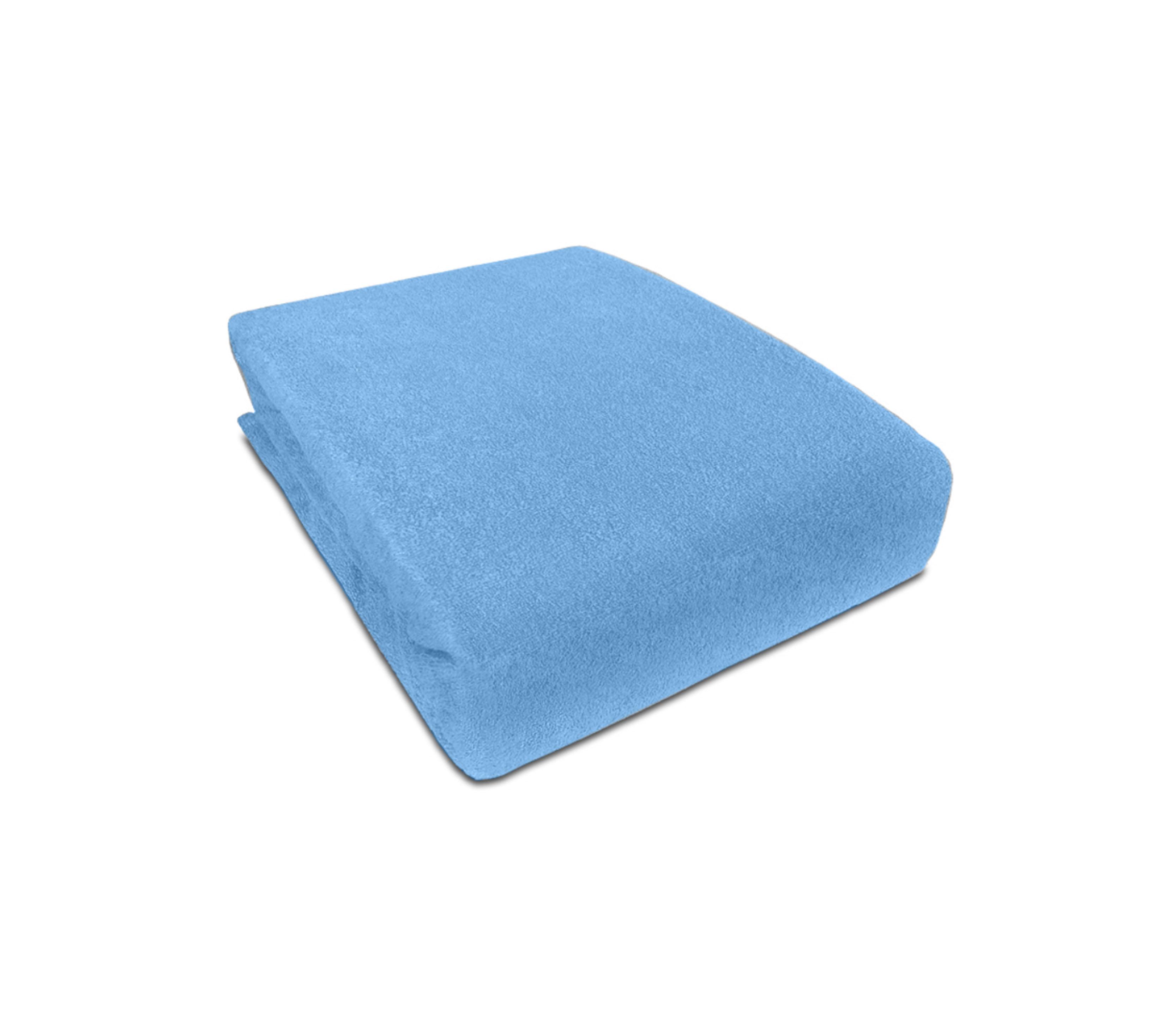 Aga prostěradlo FROTÉ 180X200 cm Barva prostěradla: Světle modrá