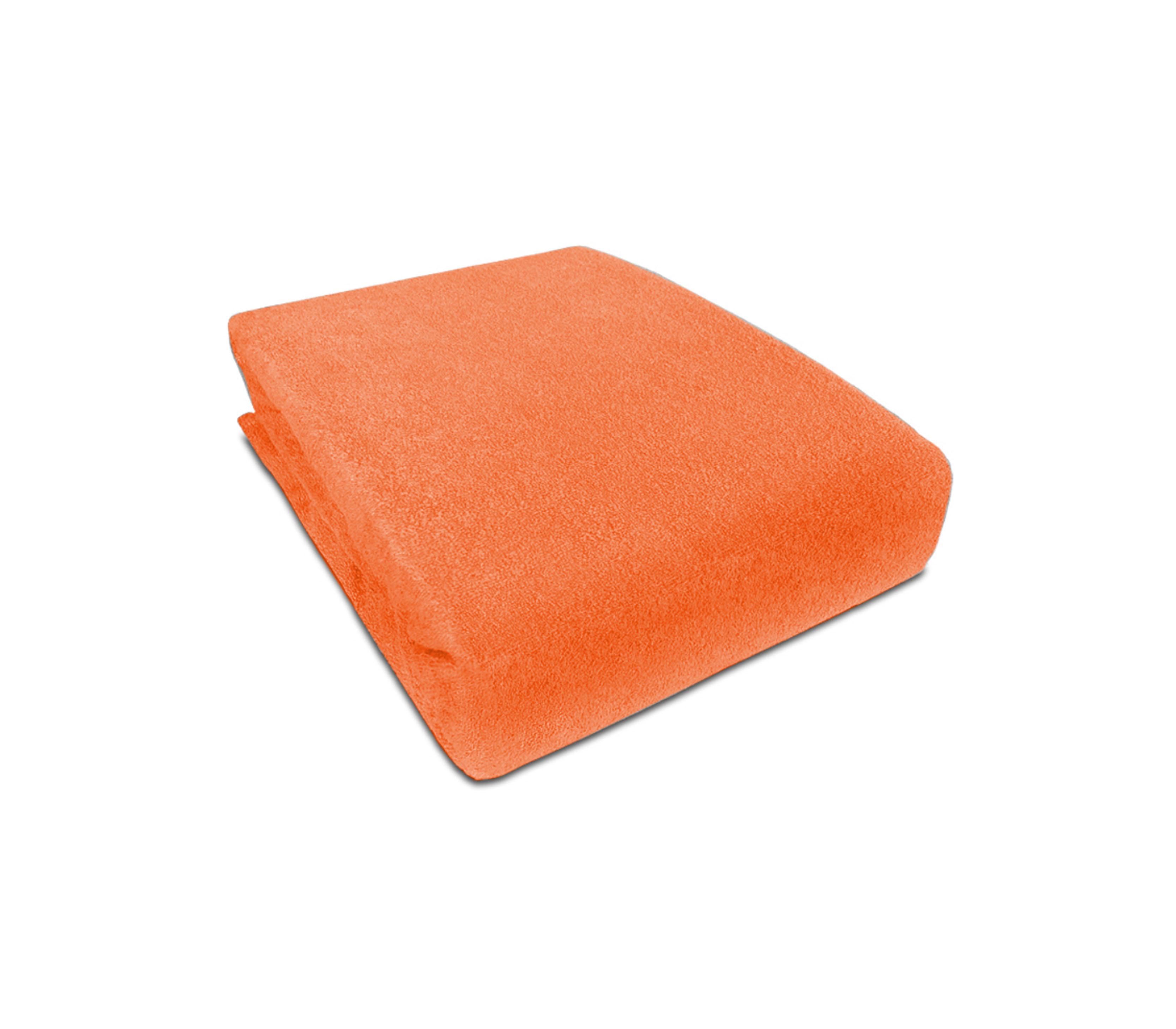 Aga prostěradlo FROTÉ 180X200 cm Barva prostěradla: Oranžová
