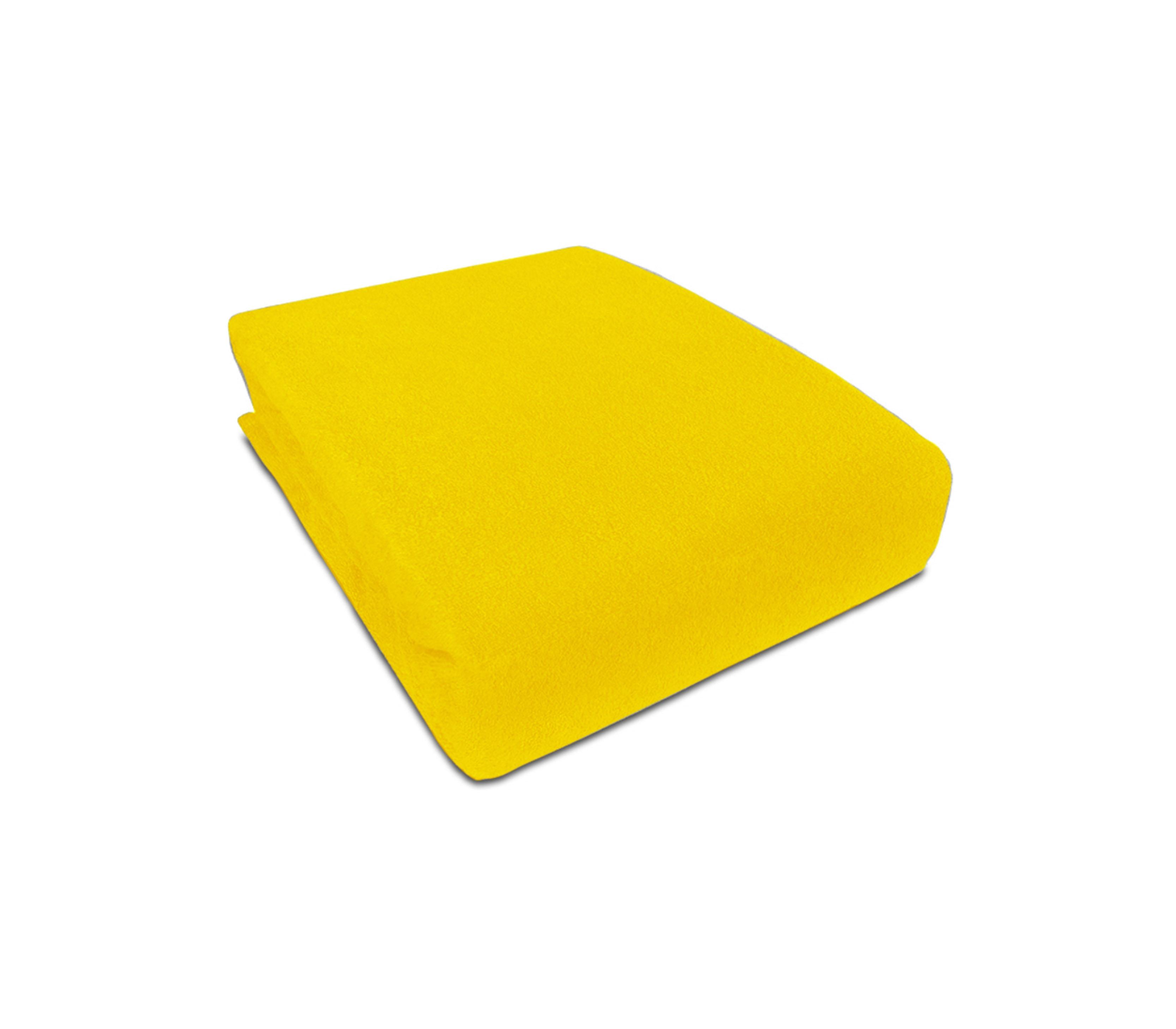 Aga prostěradlo FROTÉ 180X200 cm Barva prostěradla: Žlutá