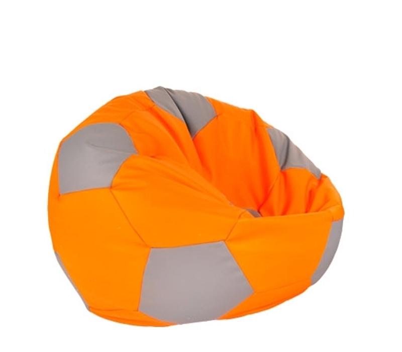 Aga Sedací pytel BALL XXXL Šedá - Oranžová