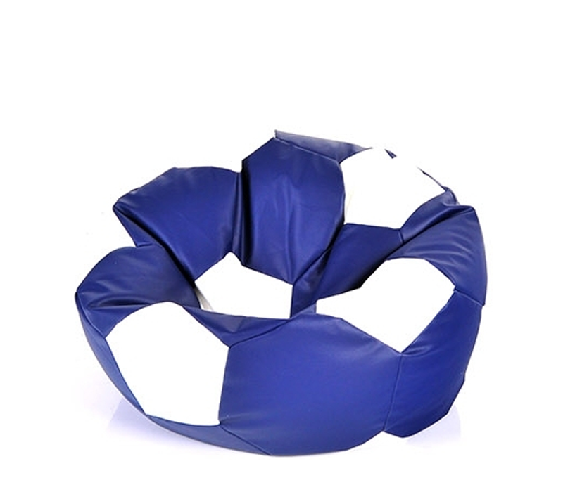 Aga Sedací pytel BALL XXXL Bílá - Tmavě modrá