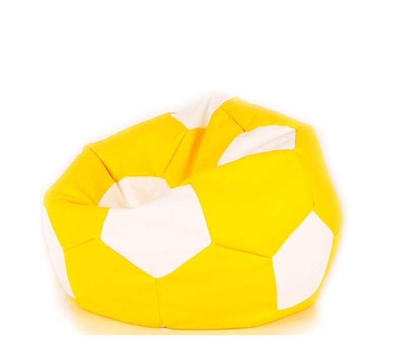 Aga Sedací pytel BALL XXXL  Bílá - Žlutá