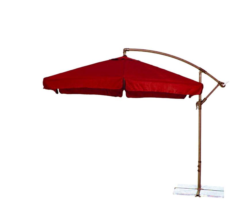 Aga Zahradní slunečník konzolový EXCLUSIV GARDEN 300 cm Dark Red