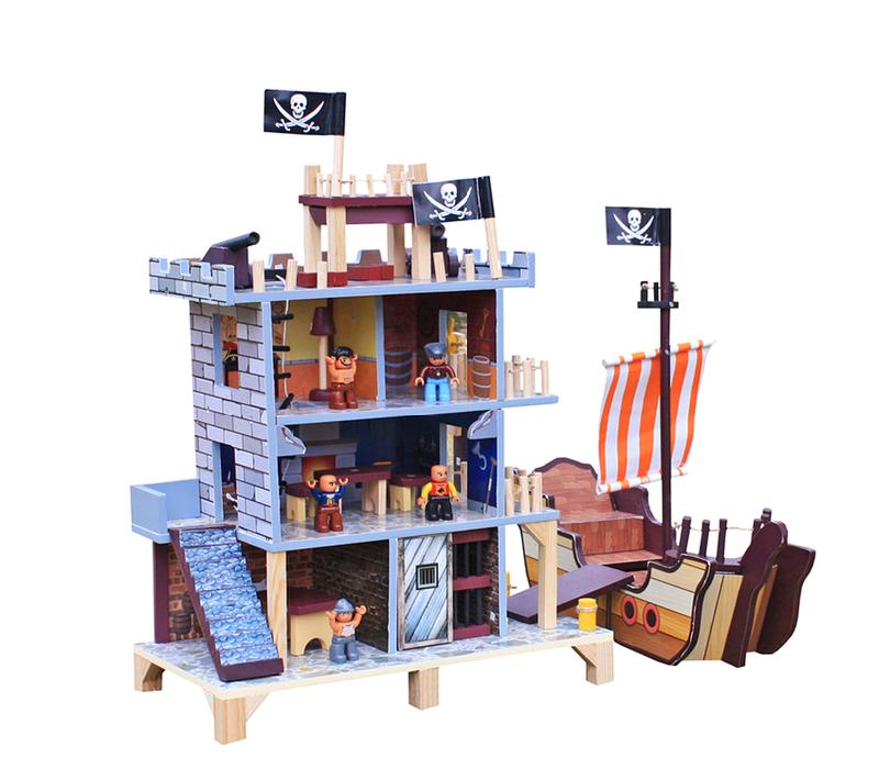 Aga4Kids Hrací dřevěný set PIRATE