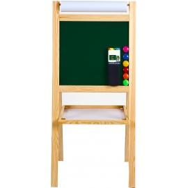 Aga4Kids Dětská tabule 4v1 MRDB05 NATUR 95 cm