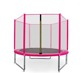 Aga SPORT PRO Trampolína 250 cm Pink + ochranná síť