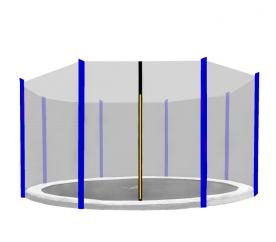 Aga védőháló 366 cm trambulinra  8 rudas Black net / Blue