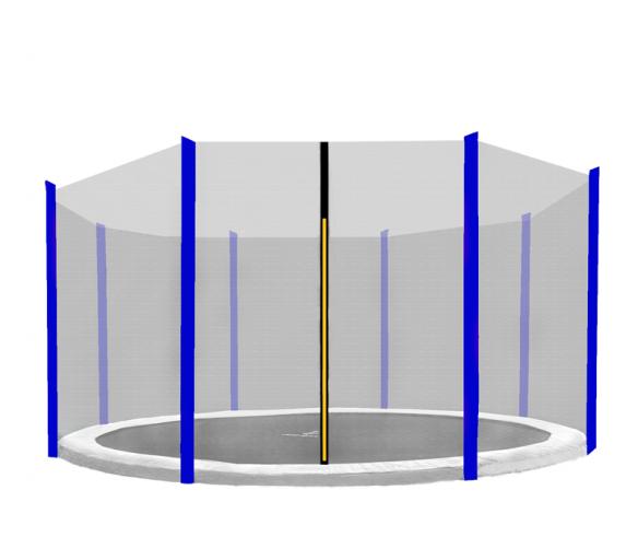 Aga Ochranná síť 366 cm na 8 tyčí Black net / Blue