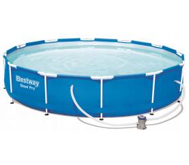 Bestway Basen stelażowy Steel Pro 3,66 x 0,76 m 56681 + pompa filtrująca