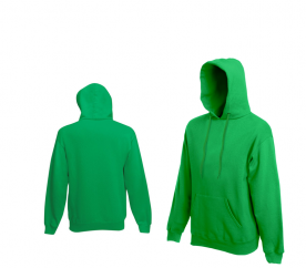 Fruit Of The Loom HOODED SWEAT Bottle Green pulóver