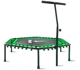 aGa FITNESS Trampolina z uchwytem 130cm - green