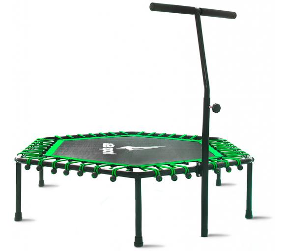 Aga Fitness 130 cm trambulin Green + kapaszkodó
