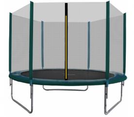 Aga SPORT TOP Trampolina ogrodowa 305 cm 10ft z siatką zewnętrzną - Dark Green