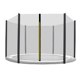 AGA 366 cm (12 ft) 6 rudas trambulin védőháló Black net/Black