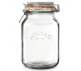 Zavařovací sklenice s klipem 2l hranatá - Kilner - Kilner