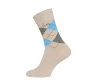 Versace 19.69 Ponožky BUSINESS 5-Pack Beige-Blue (C178)