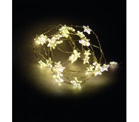 Linder Exclusiv Vianočná reťaz 40 LED hviezdy Teplá biela