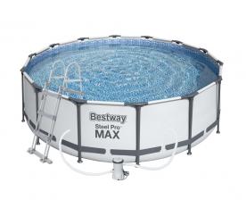 BESTWAY Fémvázas kerti medence vízforgatóval és létrával 366x100 cm