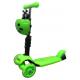 R-Sport Detská trojkolesové kolobežka 5v1 s LED kolieskami H3 Green
