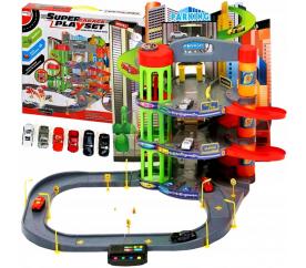 Aga4Kids Dětská patrová garáž s autíčky