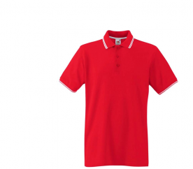 Fruit Of The Loom Tričko TIPPED POLO Red White