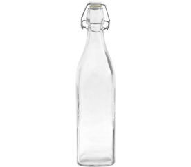 Skleněná láhev s klipem 0,5l BIOWIN - BIOWIN