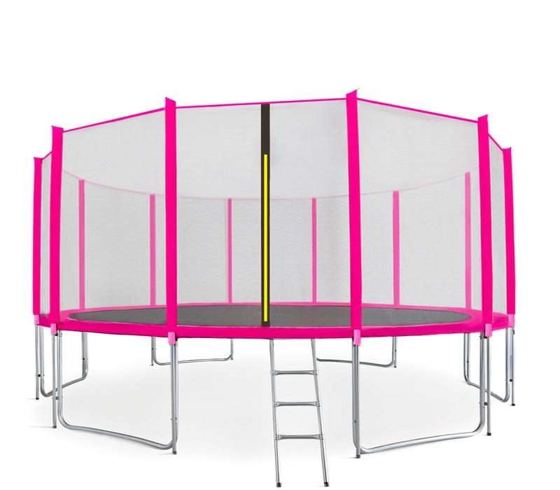 Aga SPORT PRO Trampolína 500 cm Pink + ochranná síť + žebřík + kapsa na obuv + krycí plachta
