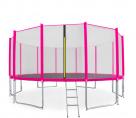 Aga SPORT PRO Trampolína 500 cm Pink + ochranná síť + žebřík + kapsa na obuv