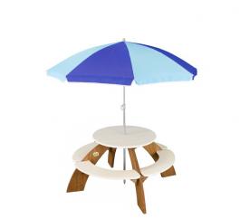 Axi Dětský piknikový stůl se slunečníkem ORION