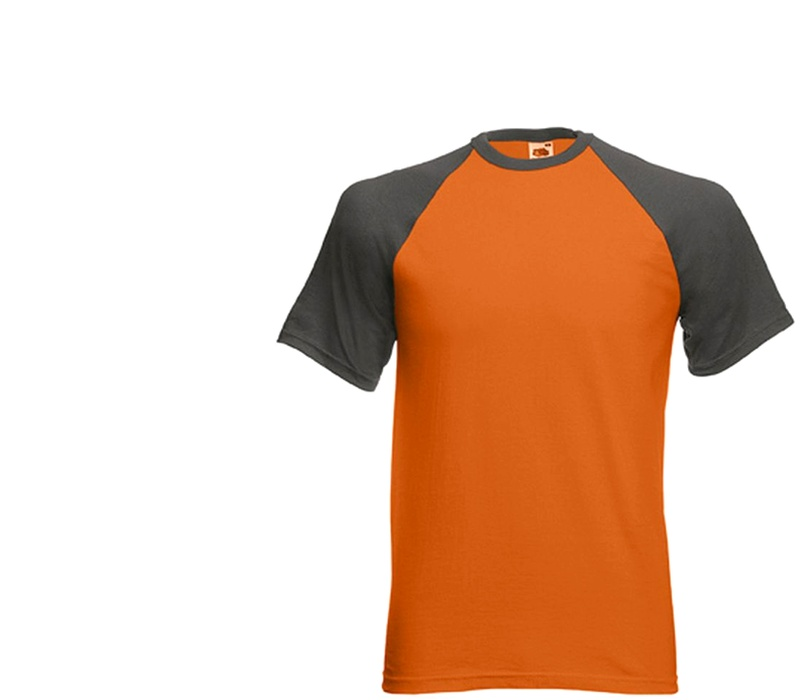 Fruit Of The Loom Tričko BASEBALL Orange Graphite