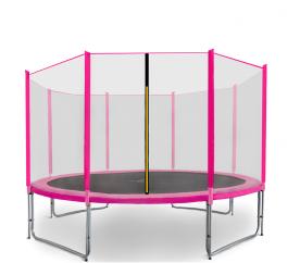 Aga SPORT PRO Trampolína 366 cm Pink + ochranná sieť