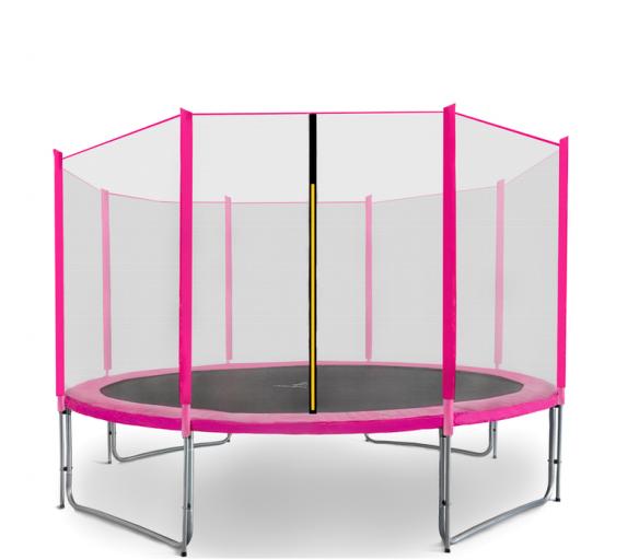 Aga SPORT PRO Trampolína 366 cm Pink + ochranná síť