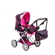 Doris babakocsi 9333/C Black Pink