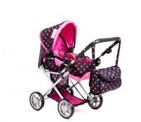 Doris Kočík pre bábiky 9333/C Black Pink