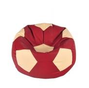 Aga Sedací vak BALL Farba: Béžová - Červená