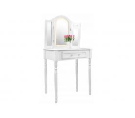 Chomik Toaletní stolek LED se 3 zrcadly + taburetem
