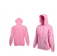 Fruit Of The Loom HOODED SWEAT Light Pink pulóver