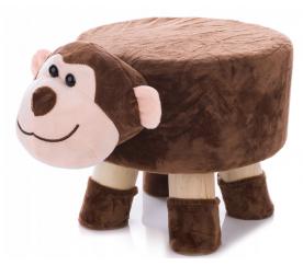 Aga4Kids Dětský taburet Opice