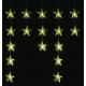 Linder Exclusiv Vianočný svetelný záves Hviezdy 40 LED Teplá biela